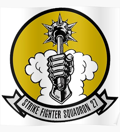 VFA-27 Royal Maces Patch Poster