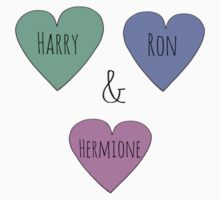 Harry & Ron & Hermione  by Bundjum