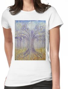 Lunar Tree Womens Fitted T-Shirt