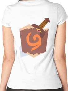 Link's Sword and Shield  Women's Fitted Scoop T-Shirt