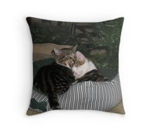 Mickey and Moire, Brother and Sister Throw Pillow