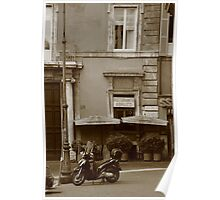 Scooter in Rome Alley Poster