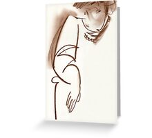 sultry woman Greeting Card