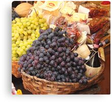 Italian Food Basket Canvas Print