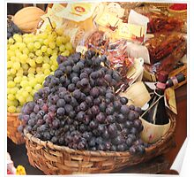 Italian Food Basket Poster