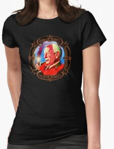 J. R. R. Tolkien Portrait with Orodruin Pipe Womens Fitted T-Shirt