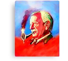 J. R. R. Tolkien Portrait with Orodruin Pipe Canvas Print