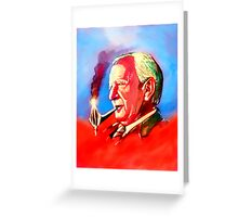 J. R. R. Tolkien Portrait with Orodruin Pipe Greeting Card