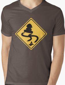 Slippery Road - Mario Kart Mens V-Neck T-Shirt