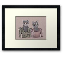 Lady Cats Framed Print