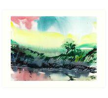 Sky N Lake Art Print