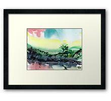 Sky N Lake Framed Print