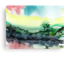 Sky N Lake Canvas Print