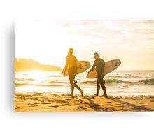 Morning Surfers Metal Print
