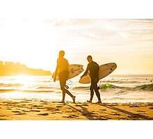 Morning Surfers Photographic Print