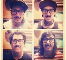 Pierce The Veil with Mustaches! by BandObsessed