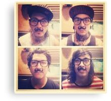Pierce The Veil with Mustaches! Canvas Print