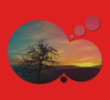 Old tree and colorful sundown panorama | landscape photography Kids Clothes