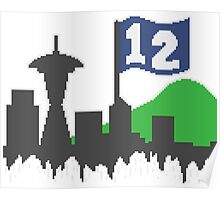 12th Man Skyline Poster