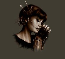 Steampunk victorian automaton steamgirl  Womens Fitted T-Shirt