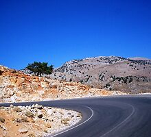 Road in Crete by SoniaGRIGO