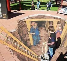 Broken Hill chalk art by Jenny McCraken by Heather Dart