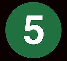 5 Train Placard by axemangraphics