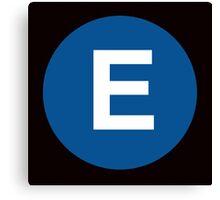 E Train Placard Canvas Print