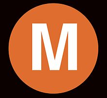 M Train Placard by axemangraphics