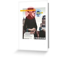 Fashion Collage Greeting Card