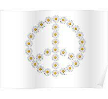 flower power, peace and love Poster