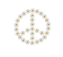 flower power, peace and love Photographic Print