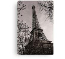 Magnificent Monochrome Eiffel Tower Canvas Print