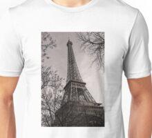 Magnificent Monochrome Eiffel Tower Unisex T-Shirt