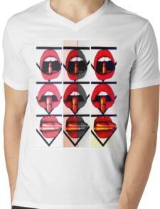 lips Mens V-Neck T-Shirt