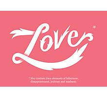 Love* Photographic Print