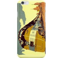 The streamliner train vintage style oil painting iPhone Case/Skin