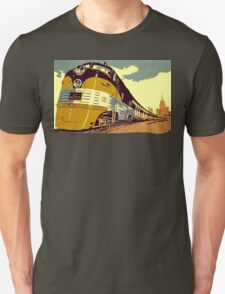 The streamliner train vintage style oil painting Unisex T-Shirt