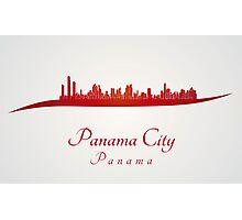 Panama City skyline in red Photographic Print