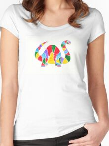 Jazzy Dinosaur Women's Fitted Scoop T-Shirt