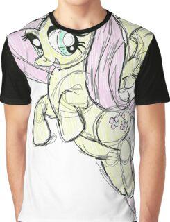 Fluttershy stencil art Graphic T-Shirt