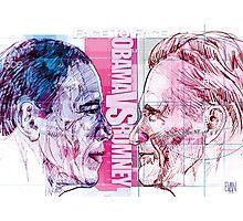 Obama vs Romney Photographic Print