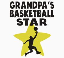 Grandpa's Basketball Star Kids Tee