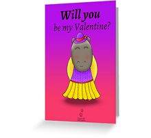 No.124 > Will you be my Valentine? (Girl) Greeting Card