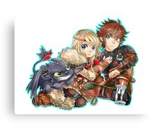 Httyd2 - Don`t touch my Hiccup Canvas Print