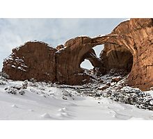 Frosted Double Arch Photographic Print