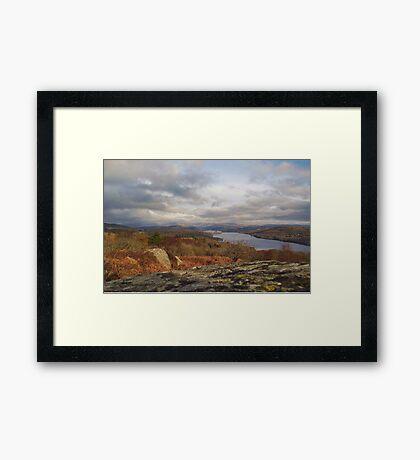 Above Lake Windermere Cumbria Framed Print