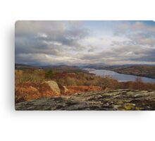 Above Lake Windermere Cumbria Canvas Print