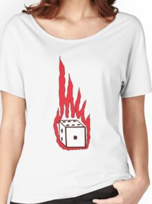 Flaming Dice Women's Relaxed Fit T-Shirt