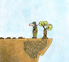 Go Green, Save The Trees Cartoon by Sagar Shirguppi
